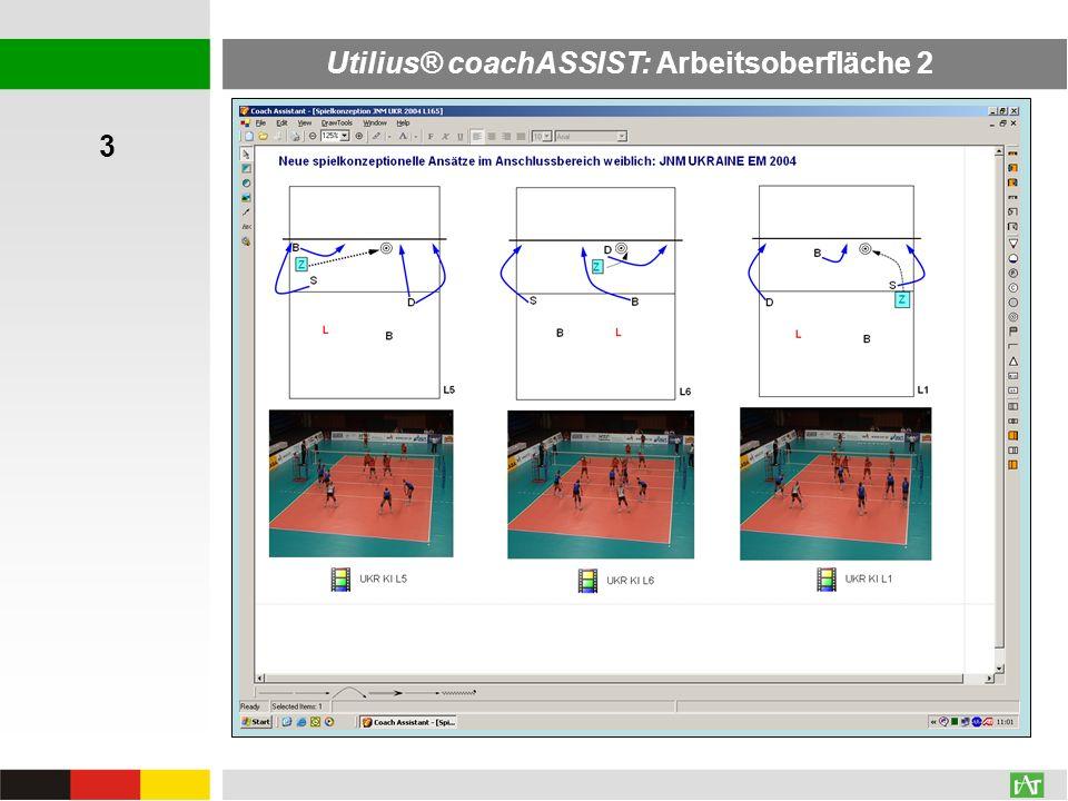 Utilius® coachASSIST: Arbeitsoberfläche 2