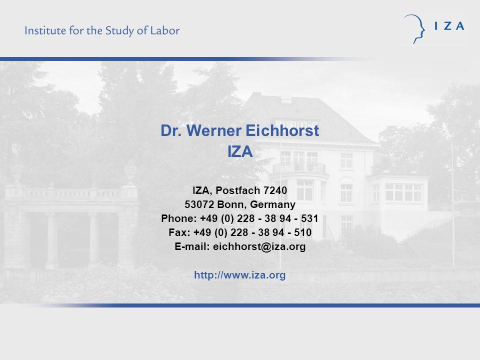 E-mail: eichhorst@iza.org