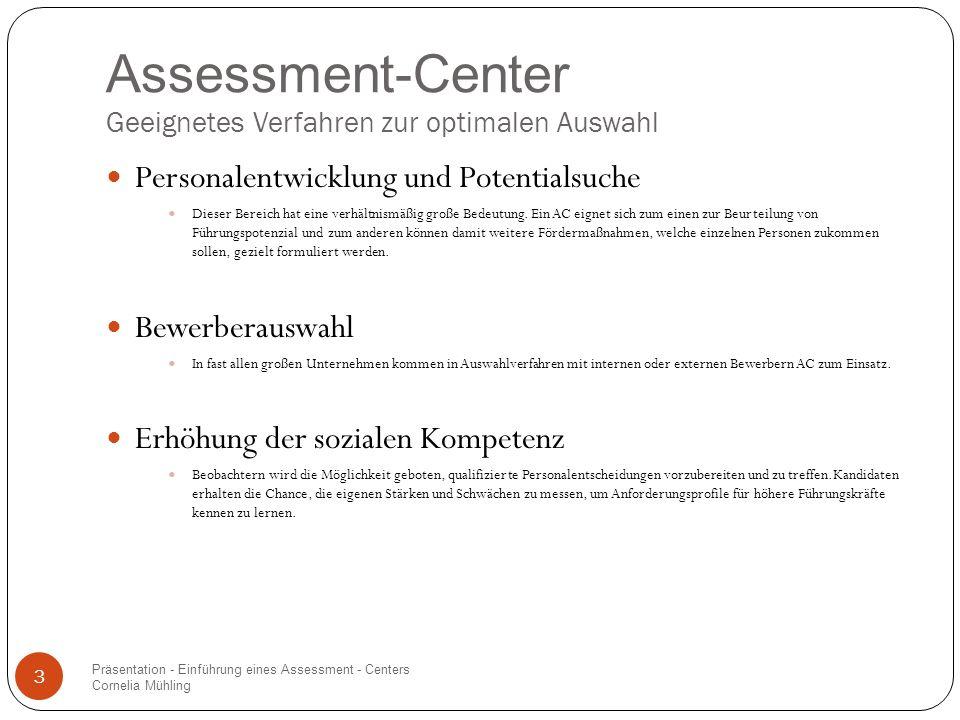 Assessment-Center Geeignetes Verfahren zur optimalen Auswahl