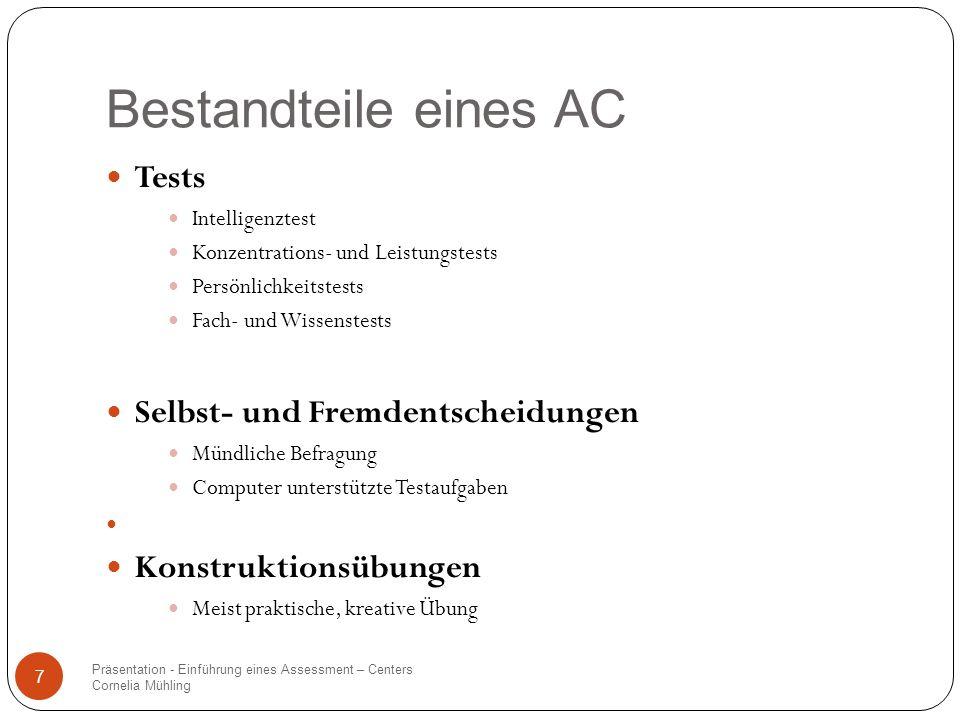 Bestandteile eines AC Tests Selbst- und Fremdentscheidungen