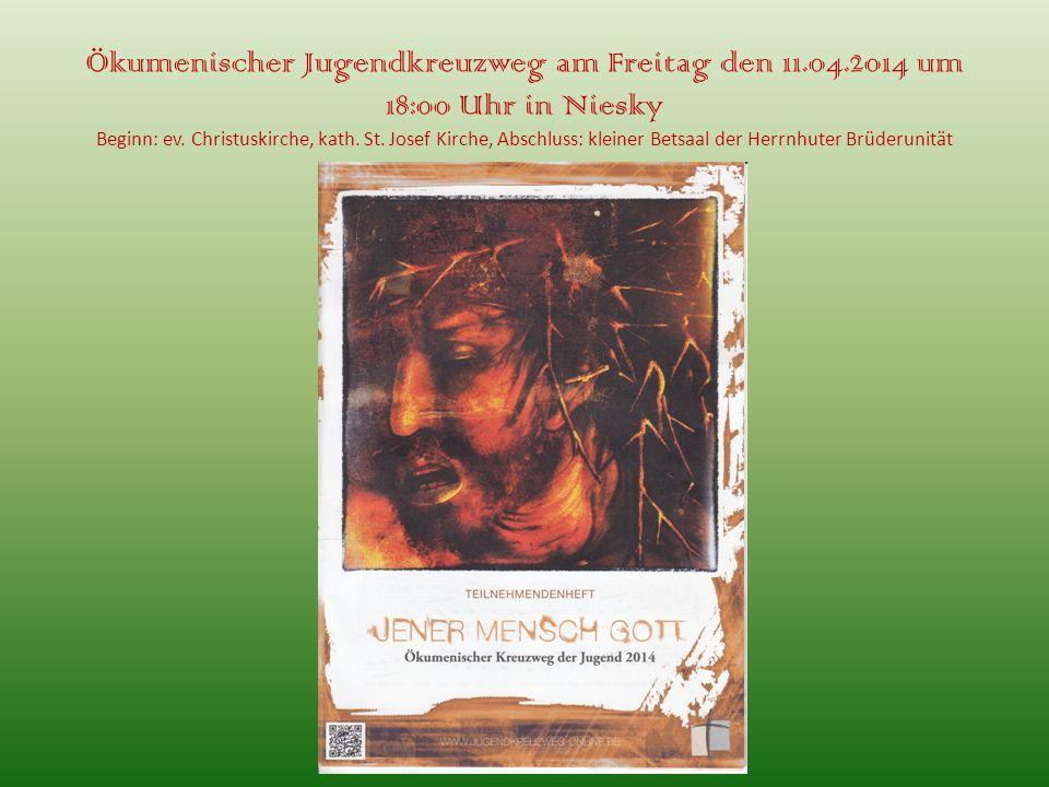 Ökumenischer Jugendkreuzweg am Freitag den 11. 04