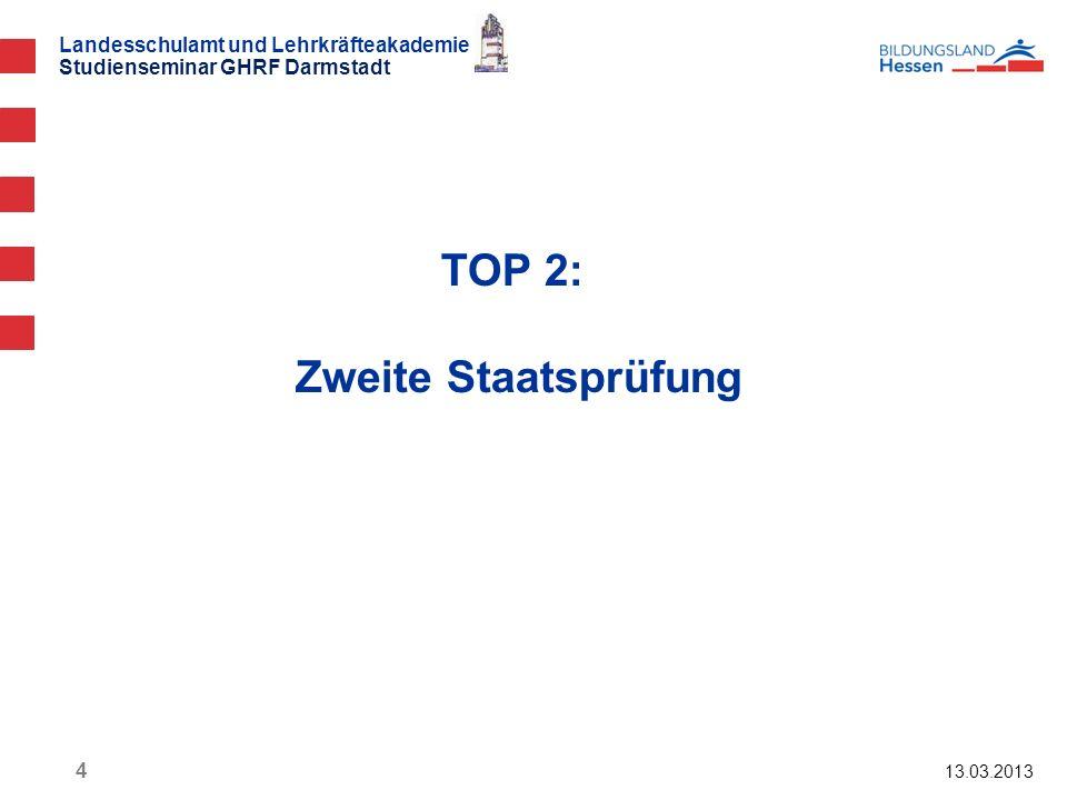 TOP 2: Zweite Staatsprüfung