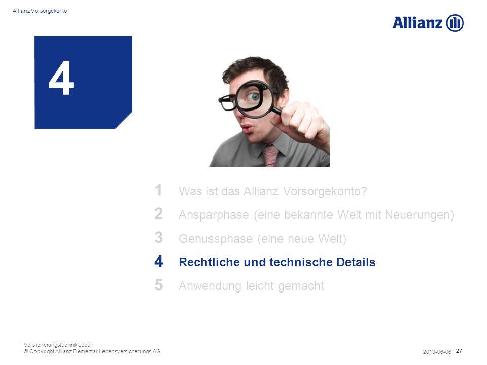 4 1 2 3 4 5 Was ist das Allianz Vorsorgekonto