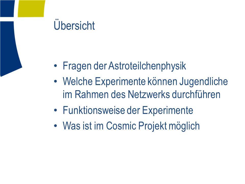 Übersicht Fragen der Astroteilchenphysik