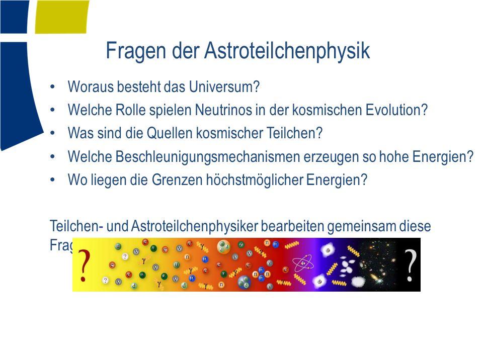 Fragen der Astroteilchenphysik