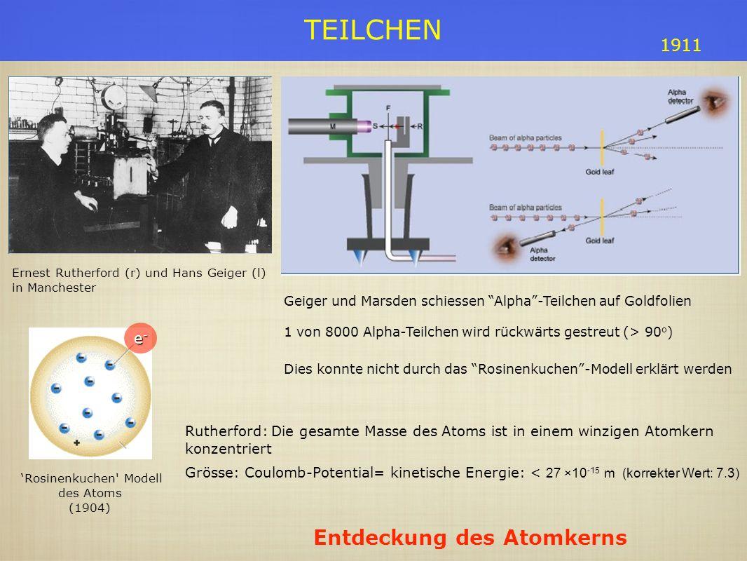 'Rosinenkuchen Modell des Atoms
