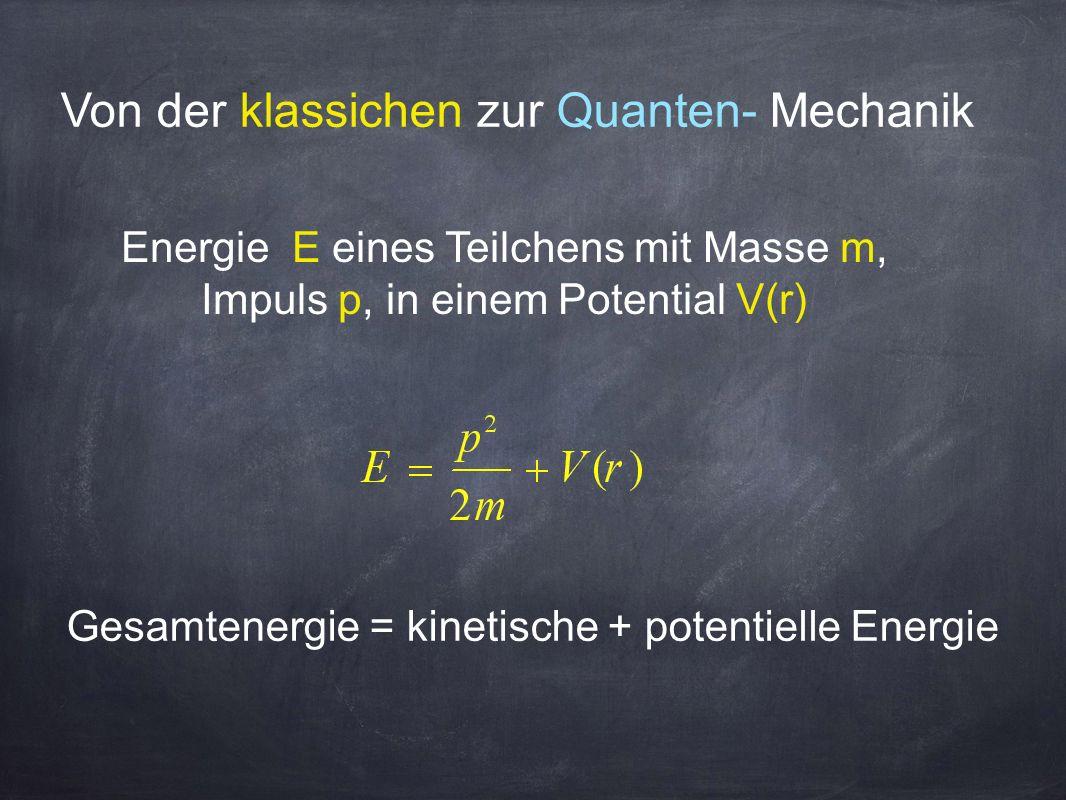 Von der klassichen zur Quanten- Mechanik