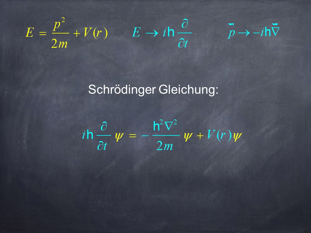 Schrödinger Gleichung: