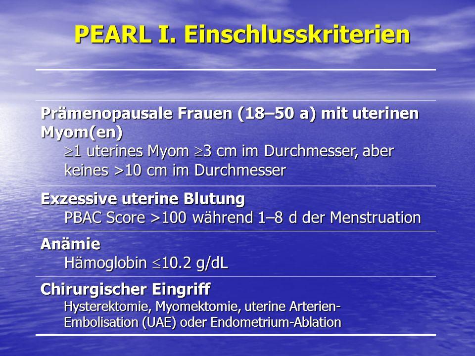 PEARL I. Einschlusskriterien