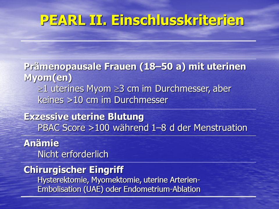 PEARL II. Einschlusskriterien