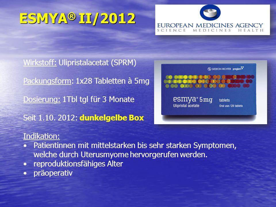 ESMYA® II/2012 Wirkstoff: Ulipristalacetat (SPRM)