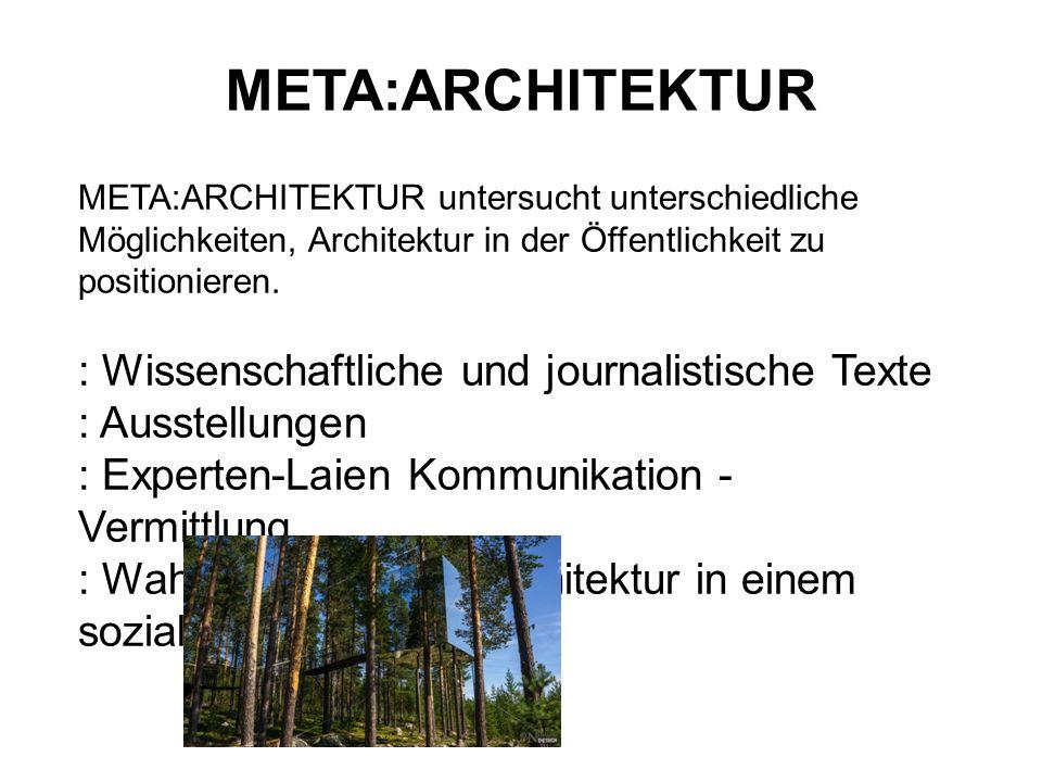 META:ARCHITEKTUR : Wissenschaftliche und journalistische Texte