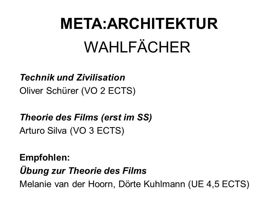 META:ARCHITEKTUR WAHLFÄCHER