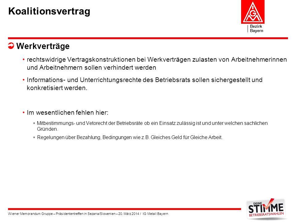 Koalitionsvertrag Werkverträge