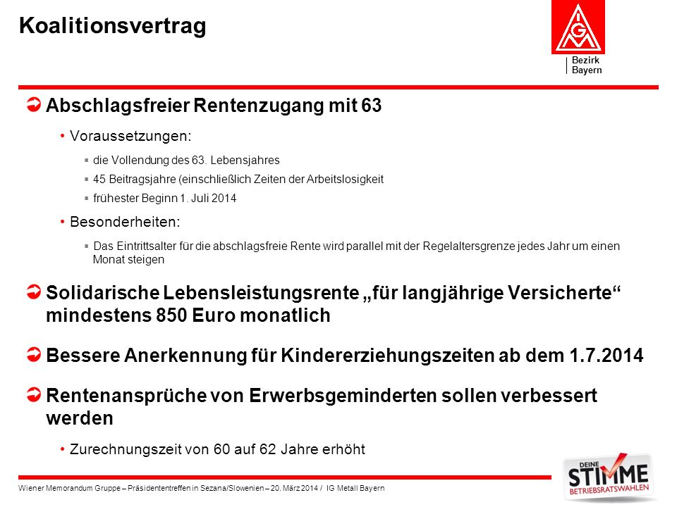 Koalitionsvertrag Abschlagsfreier Rentenzugang mit 63