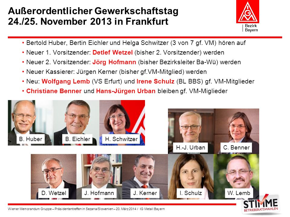 Außerordentlicher Gewerkschaftstag 24./25. November 2013 in Frankfurt