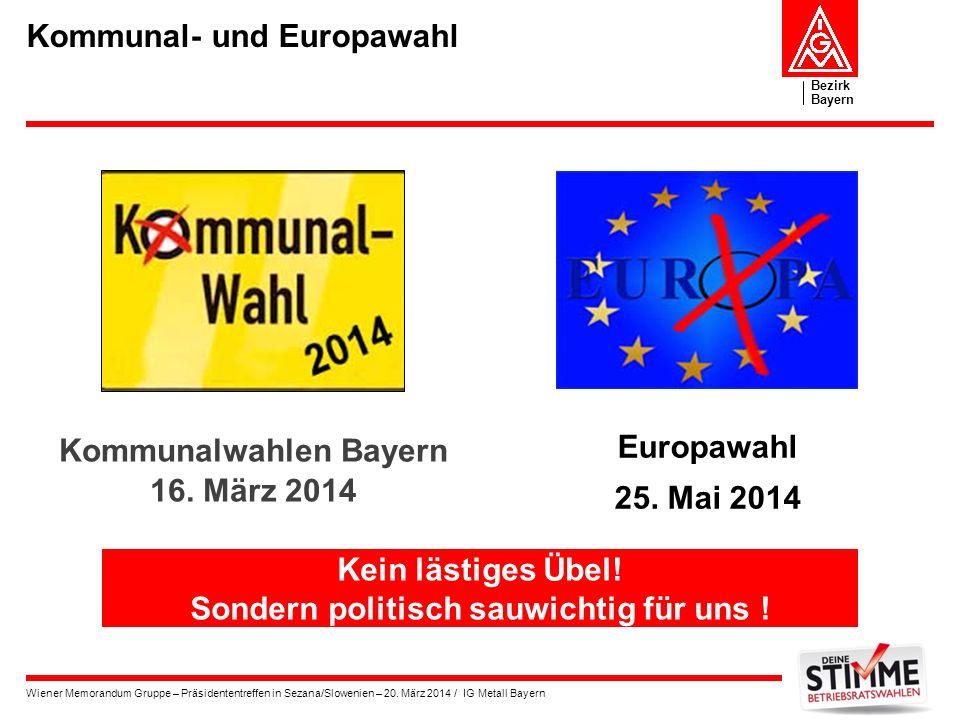 Kommunal- und Europawahl