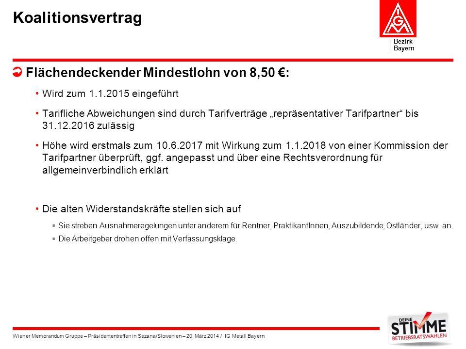 Koalitionsvertrag Flächendeckender Mindestlohn von 8,50 €: