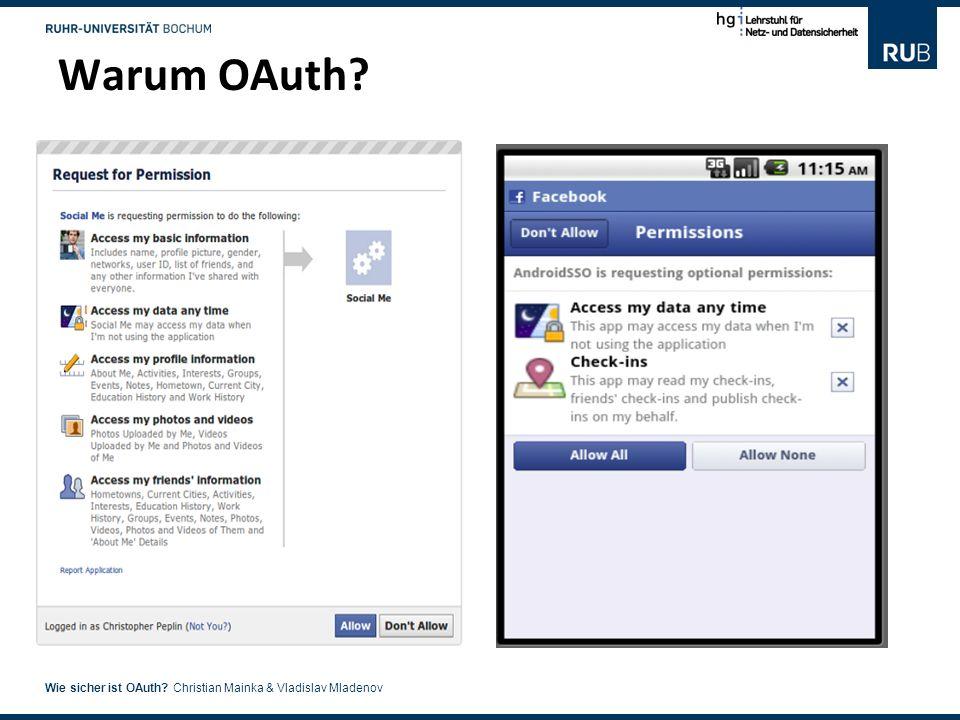 Warum OAuth