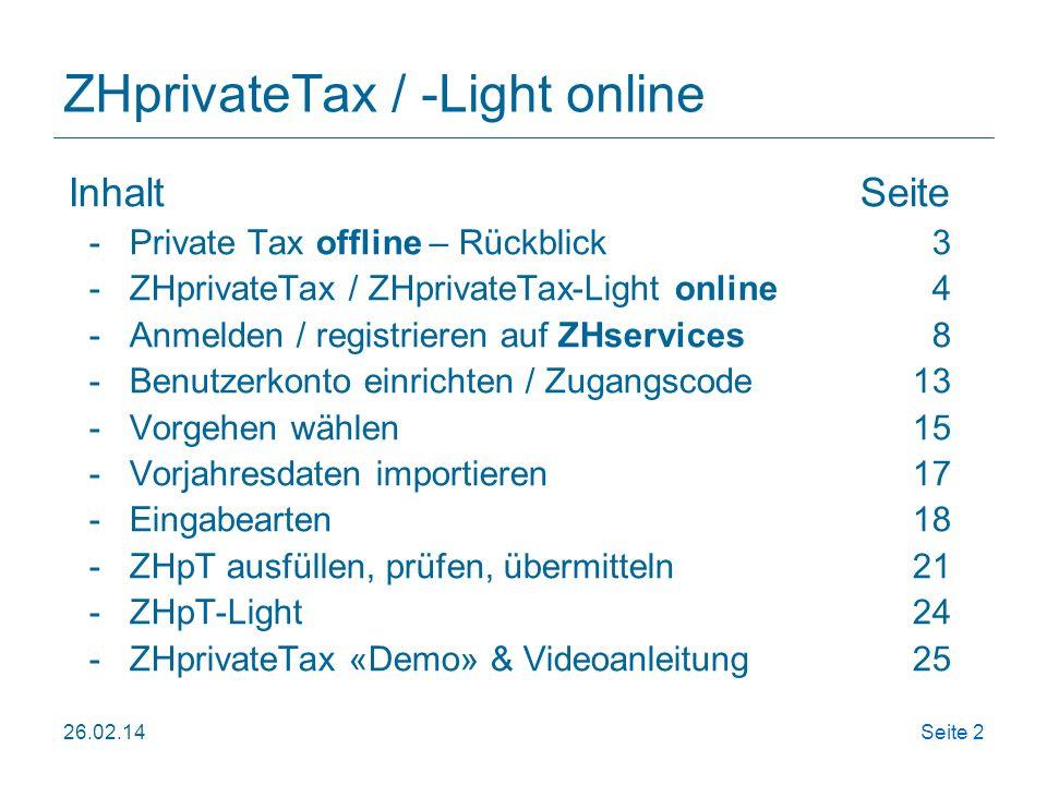 ZHprivateTax / -Light online