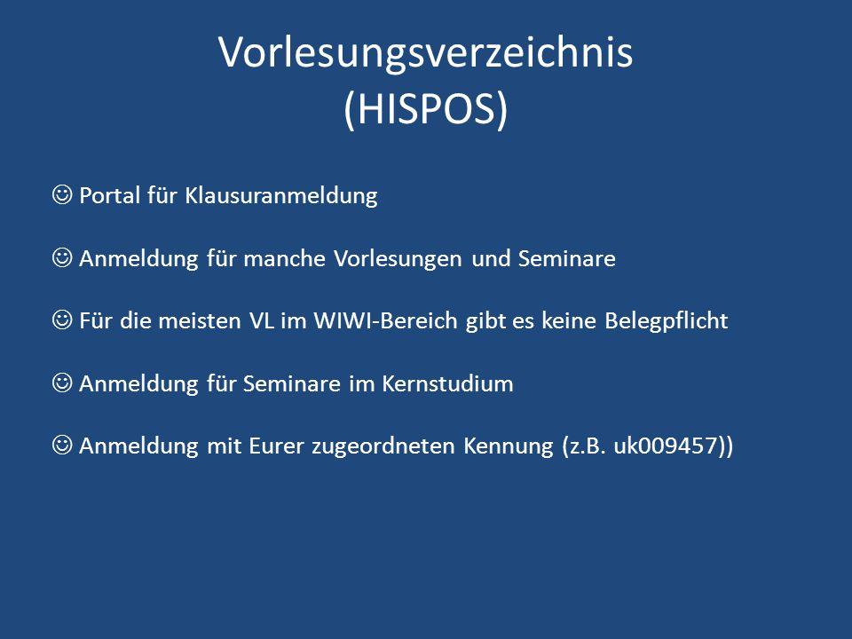 Vorlesungsverzeichnis (HISPOS)