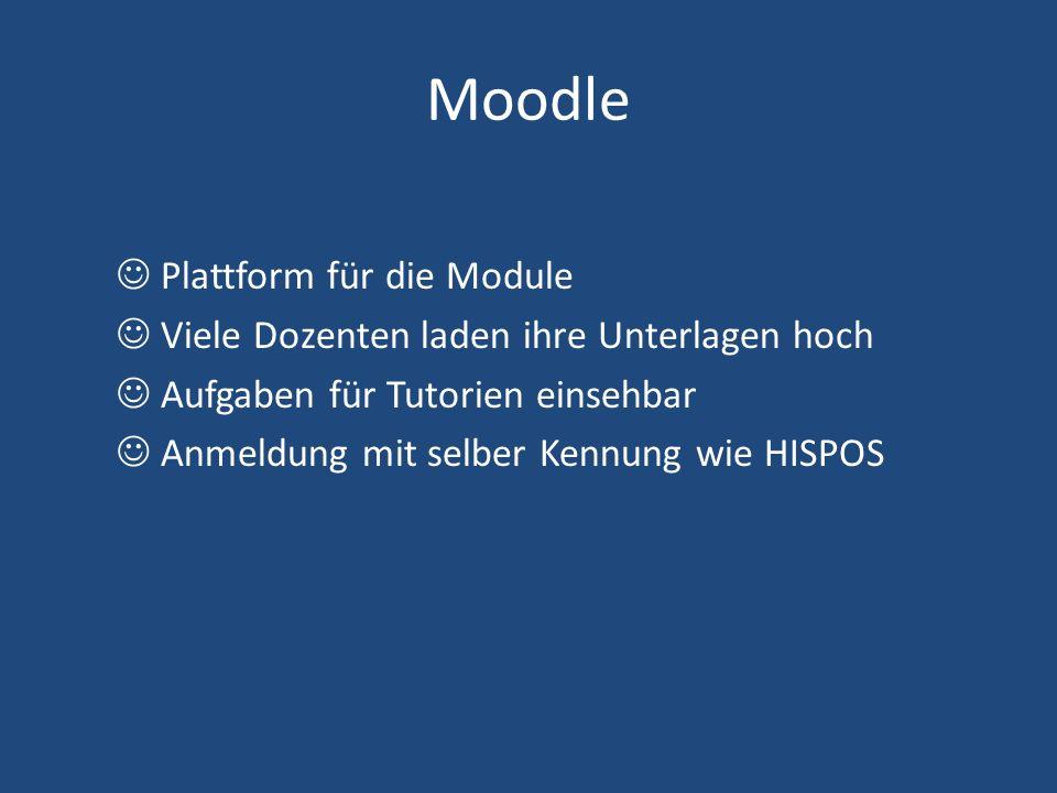Moodle  Plattform für die Module