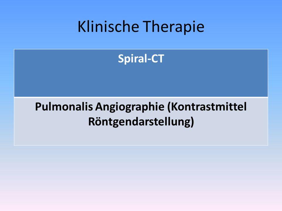 Pulmonalis Angiographie (Kontrastmittel Röntgendarstellung)