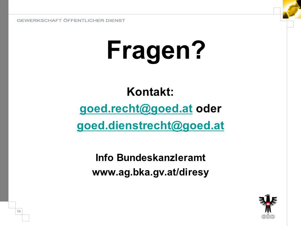 goed.recht@goed.at oder Info Bundeskanzleramt