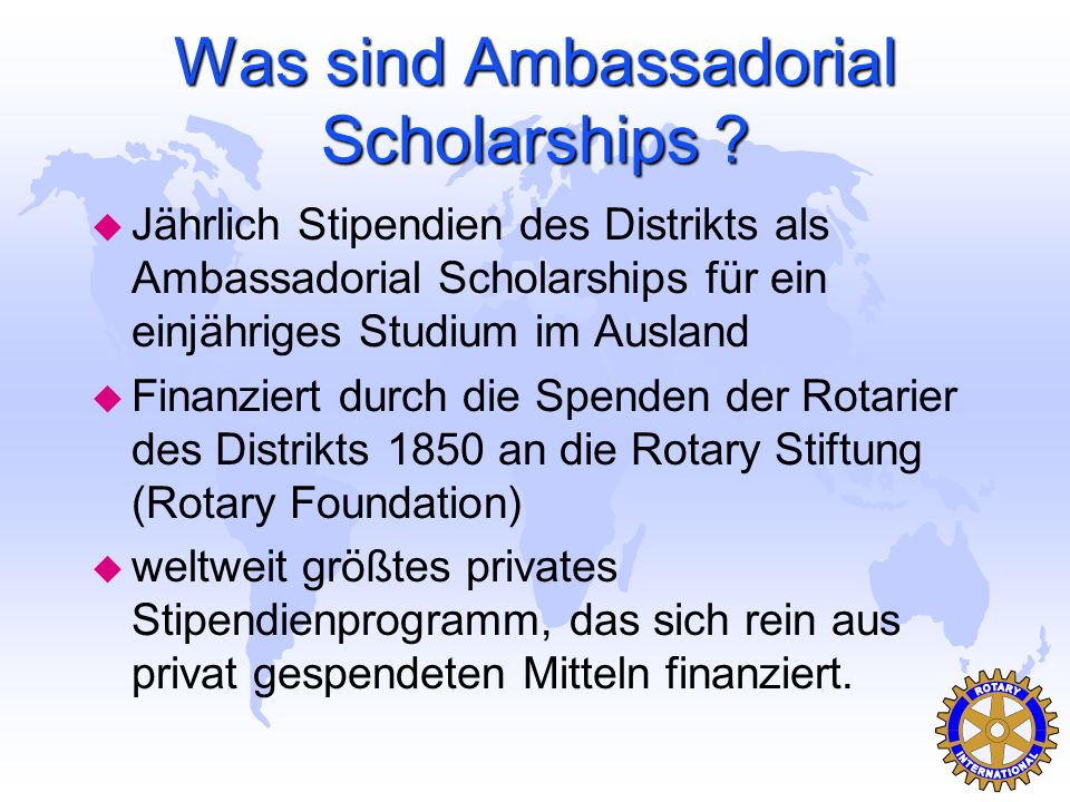 Was sind Ambassadorial Scholarships