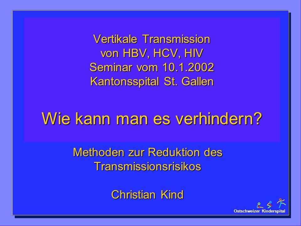 Methoden zur Reduktion des Transmissionsrisikos Christian Kind
