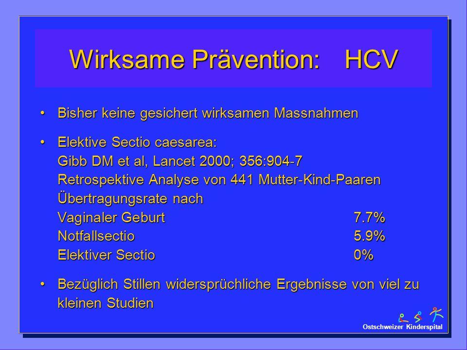 Wirksame Prävention: HCV