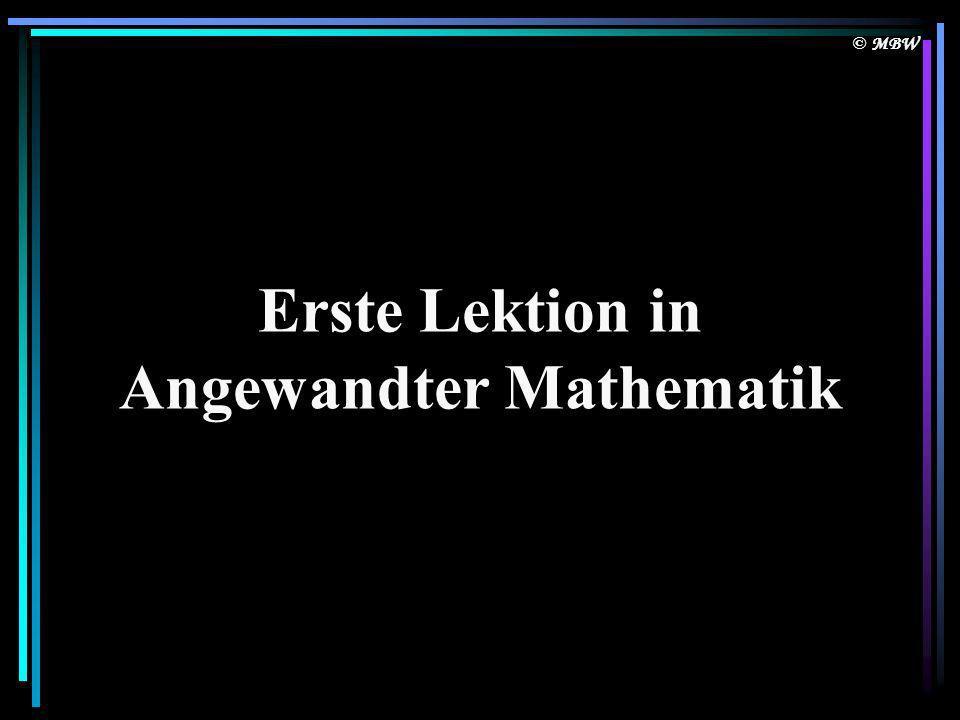 Angewandter Mathematik
