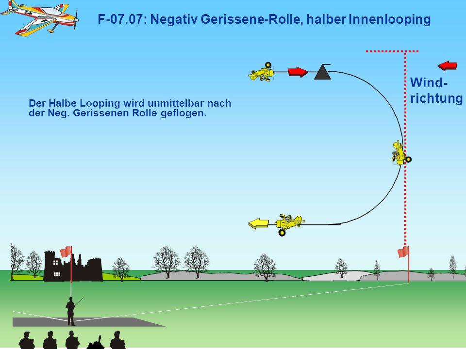 F-07.07: Negativ Gerissene-Rolle, halber Innenlooping