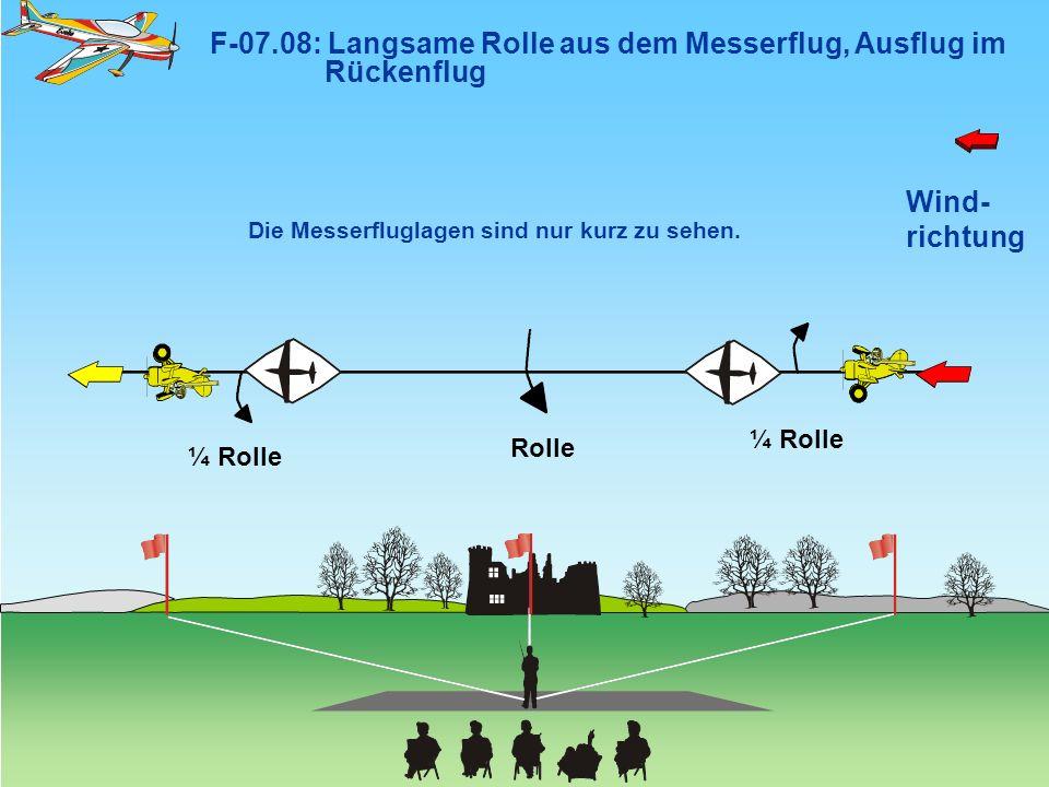 F-07.08: Langsame Rolle aus dem Messerflug, Ausflug im Rückenflug