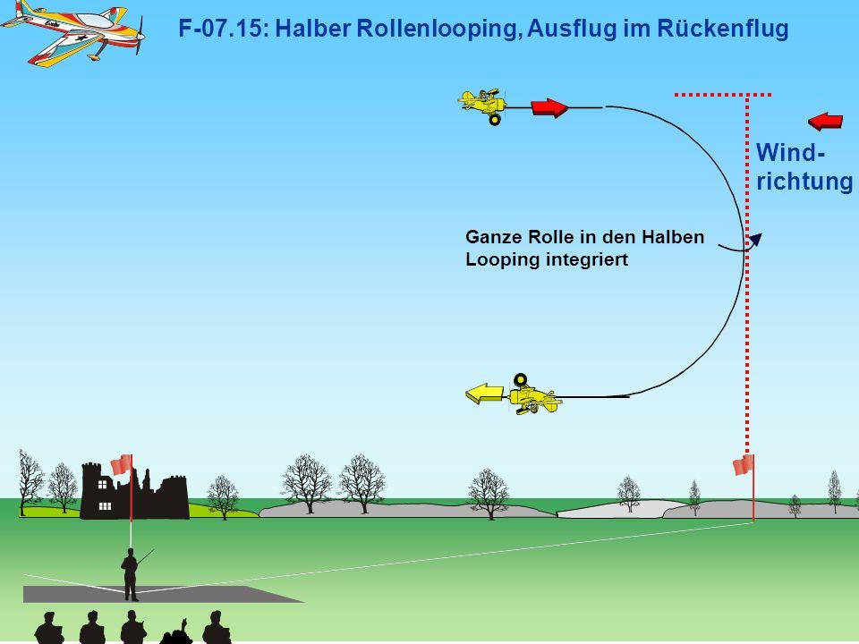 F-07.15: Halber Rollenlooping, Ausflug im Rückenflug