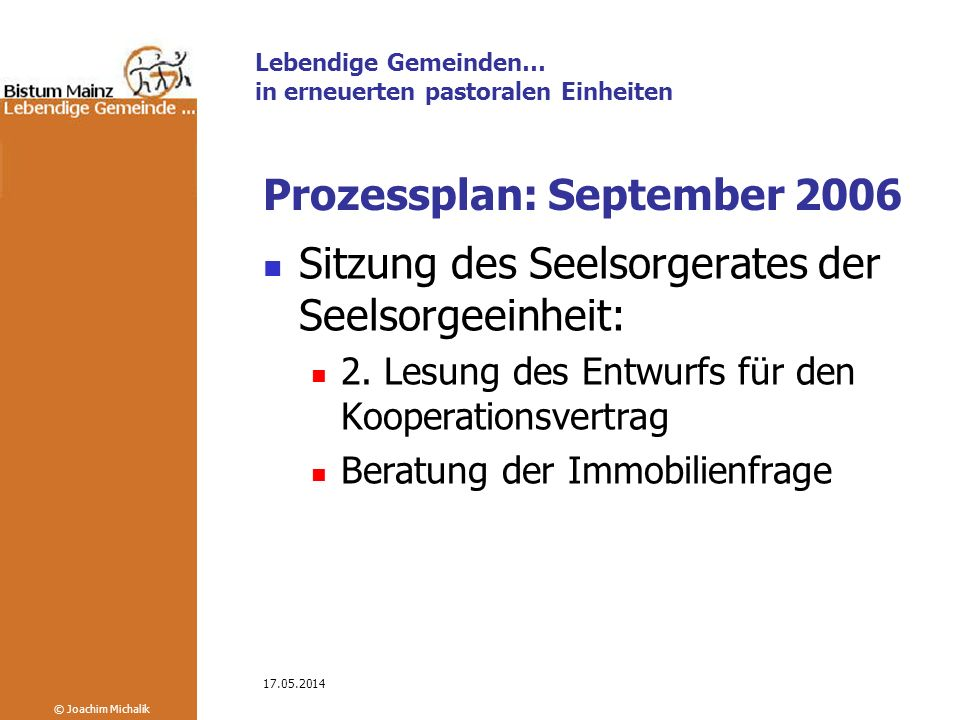 Prozessplan: September 2006