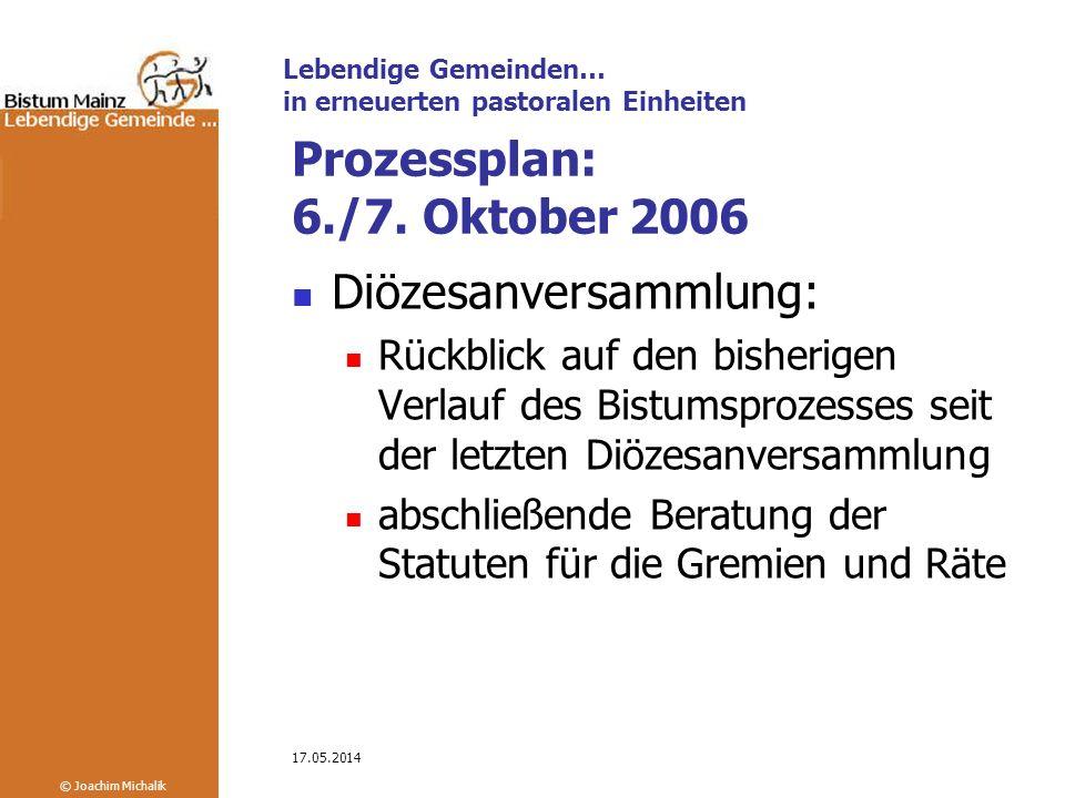 Prozessplan: 6./7. Oktober 2006