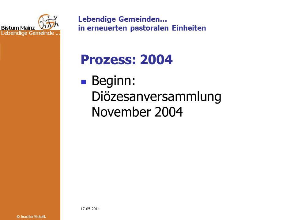 Beginn: Diözesanversammlung November 2004