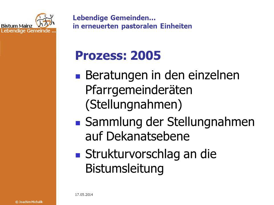 Beratungen in den einzelnen Pfarrgemeinderäten (Stellungnahmen)