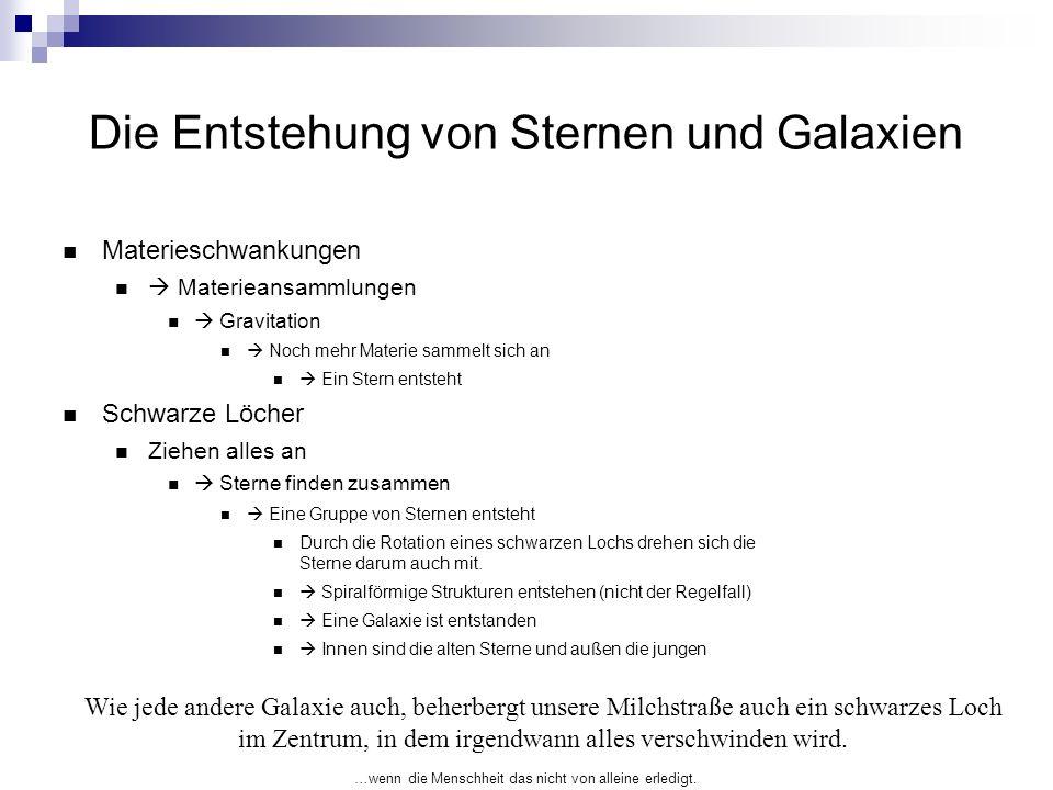 Die Entstehung von Sternen und Galaxien