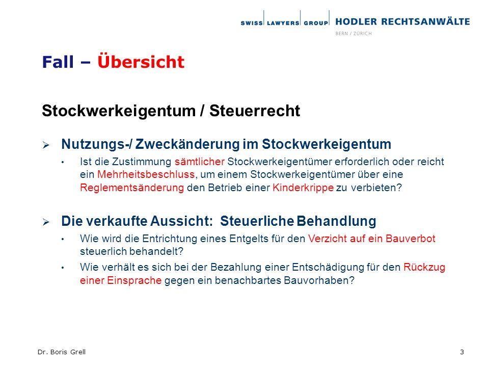 Stockwerkeigentum / Steuerrecht