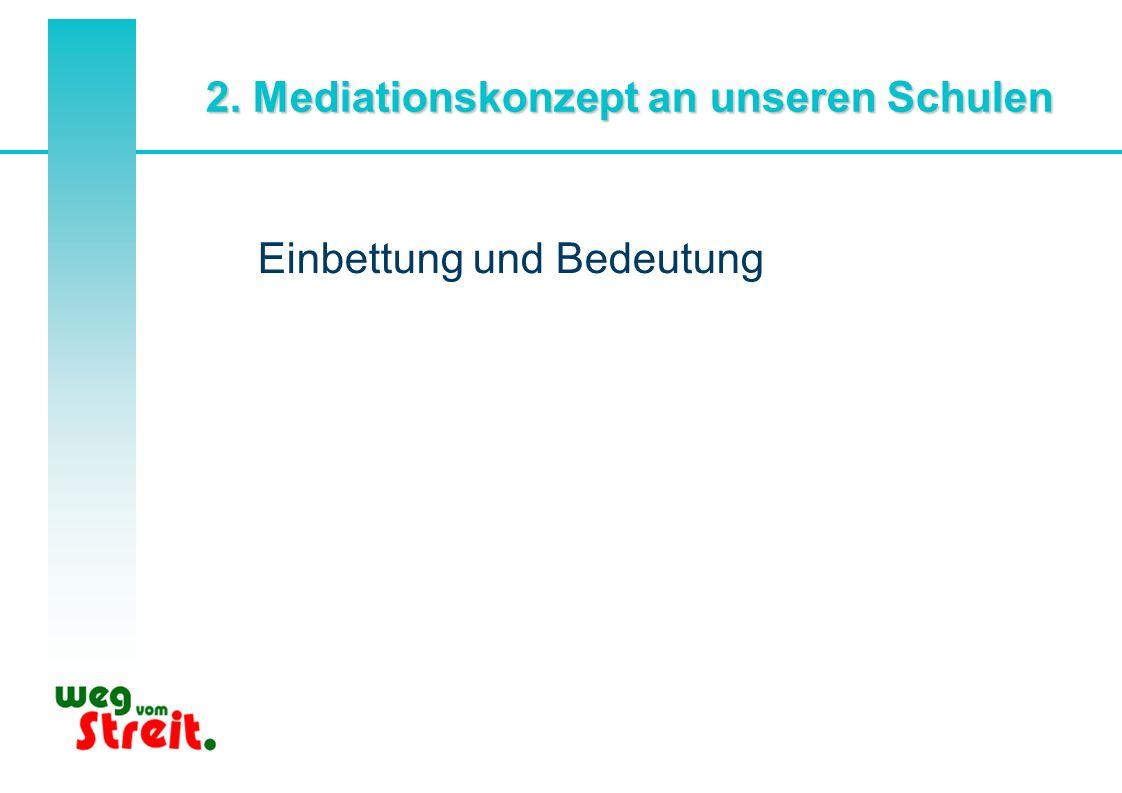 2. Mediationskonzept an unseren Schulen