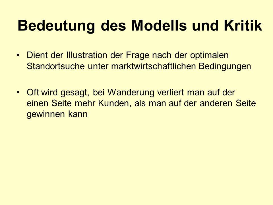 Bedeutung des Modells und Kritik