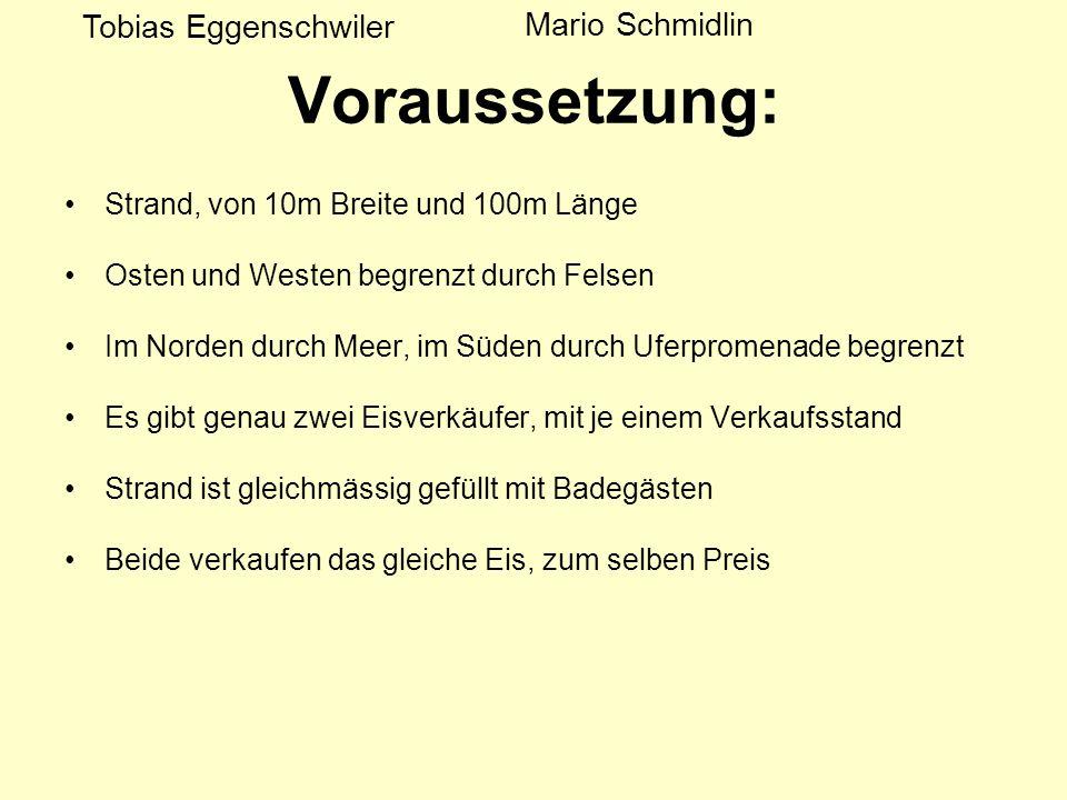 Voraussetzung: Tobias Eggenschwiler Mario Schmidlin