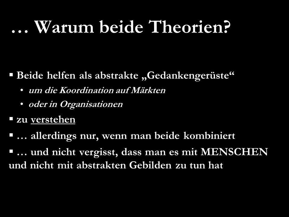 """… Warum beide Theorien Beide helfen als abstrakte """"Gedankengerüste"""