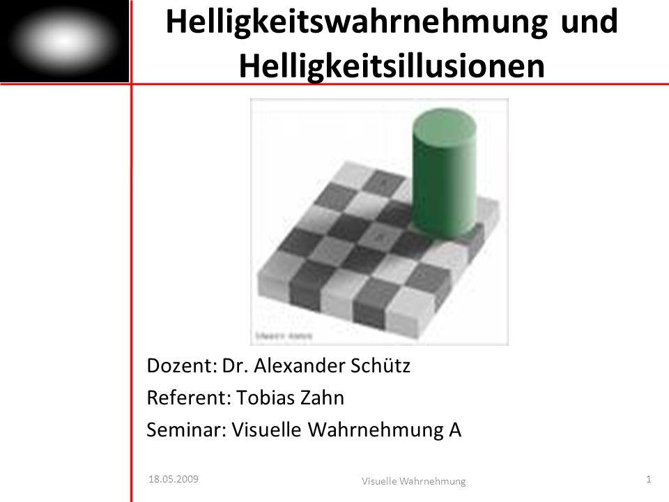 Helligkeitswahrnehmung und Helligkeitsillusionen