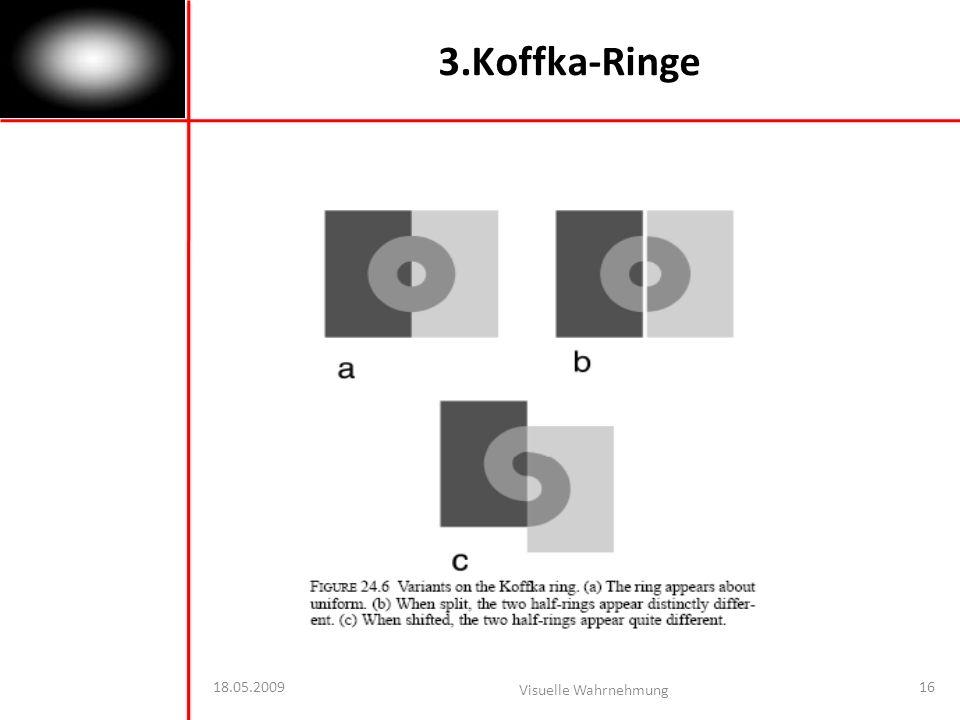 3.Koffka-Ringe 18.05.2009 Visuelle Wahrnehmung