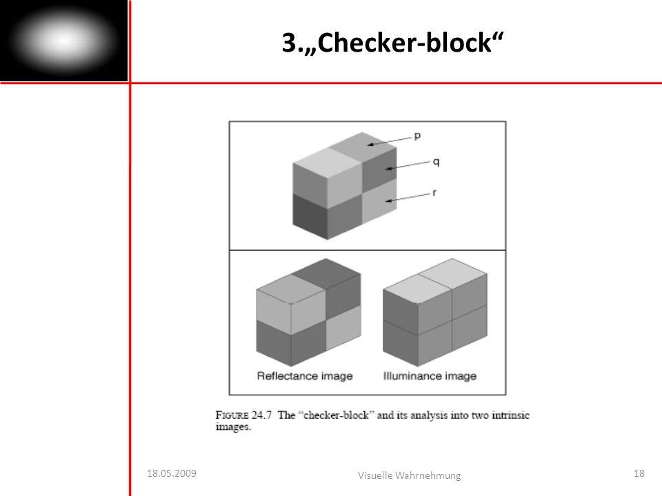 """3.""""Checker-block 18.05.2009 Visuelle Wahrnehmung"""