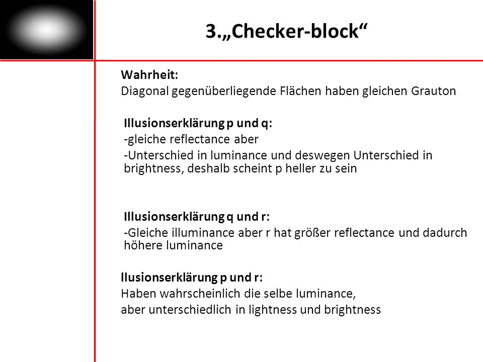 """3.""""Checker-block Wahrheit:"""
