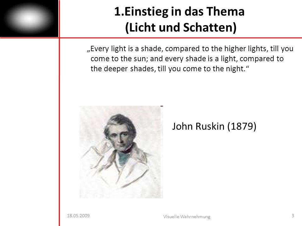 1.Einstieg in das Thema (Licht und Schatten)